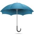 Open blue umbrella vector