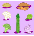 Vegetable icons 2 vector