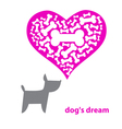 Dogs dream vector