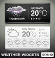 Weather widgets vector