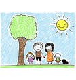 Doodle family vector