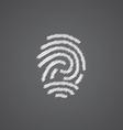 Fingerprint sketch logo doodle icon vector