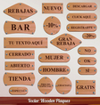 Set wooden plaque spanish vector