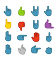 Basic human gestures color icons collection vector