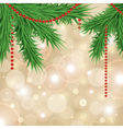 Christmas sparkling background with christmas tree vector