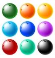 Bowling ball set vector