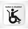 Icon invalid stretched out his hand asks for help vector