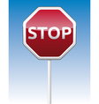 Stop traffic board vector
