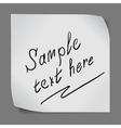 Paper sticker over grey background vector