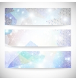 Winter backgrounds set with snowflakes abstract vector