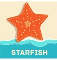 Retro flat starfish icon concept design vector