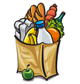 Bag with food vector