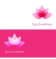 Two template with lotus flower elements vector