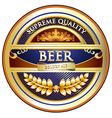 Beer label - ornate vintage design vector