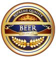 Beer label - ornate vintage design vector