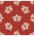 Red and beige seamless floral pattern vector