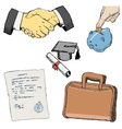 Set of business vector
