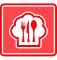 Restaurant icon on red background vector