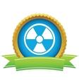 Gold nuclear logo vector
