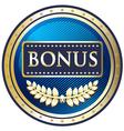 Bonus blue label vector