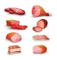 Fresh meat set vector