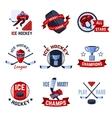 Hockey emblems set vector