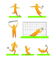 Human soccer and football silhouettes vector