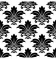 Black and white seamless damask pattern vector