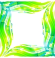 Abstract green wave ripples frame vector