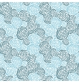 Seamless pattern with outline roses vector