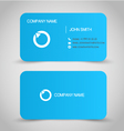 Business card set template blue color vector
