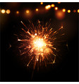Holiday background with sparkler vector