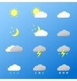 Universal color icons weather vector