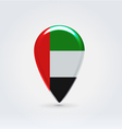 United emirates icon point for map vector
