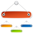 Blank hanging labels vector