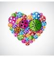 Heart of gears vector