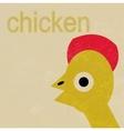 Happy baby chicken cartoon vector
