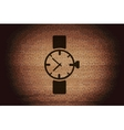 Watchclock flat modern web button and space for vector