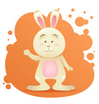 Cute cartoon bunny toy card vector