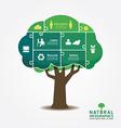 Infographic green tree jigsaw banner vector