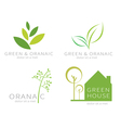Eco green leaf ecology green icon vector