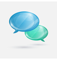 Glossy speech bubbles icon on white background vector