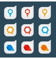Set of colored icons to indicate the empty space vector