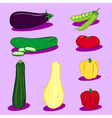 Vegetable icons 3 vector