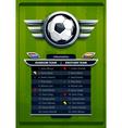 Grunge football background vector