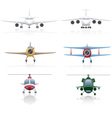 Set icons airplane 01 vector
