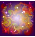 Abstract space colors background with light stars vector
