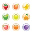 Fruits button gray web 20 icons vector