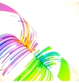 Rainbow colors abstract perspective background vector