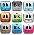 A button showing the element berkelium vector